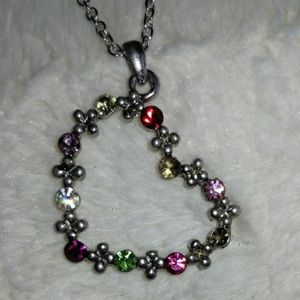 Jewelry - Multicolored Gem Heart Necklace